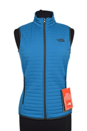 The North Face Sleeveless Vest (The North Face Women's Polartec Fur Quilted Fabbow Vest Brilliant Blue Small)