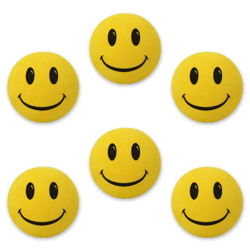 - Tenna Tops 6 Pcs Yellow Smiley Happy Face Car Antenna Toppers, Antenna Balls, Rear View Mirror Danglers