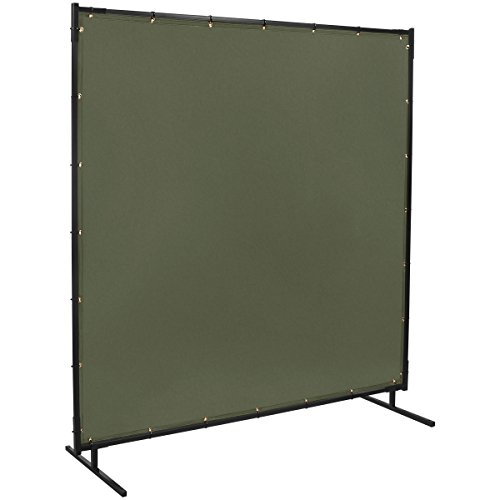 Steiner 501-6X6 Protect-O-Screen Classic Welding Screen with Flame Retardant 12-Ounce Canvas Curtain, Duck Olive Green, 6' x 6' (Canvas Retardant Flame)