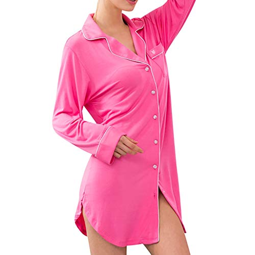 Women's Sexy Loose Long-Sleeved Button Pajamas Comfortable On-Site Service