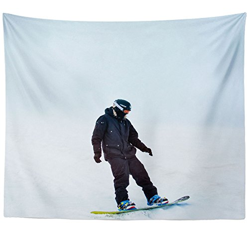 Telemark Touring Skis - Westlake Art Wall Hanging Tapestry - Man Sport - Photography Home Decor Living Room - 68x80in (a58z)