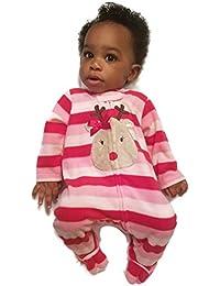 Reindeer Infant Baby Girl Footed Holiday Christmas Sleeper Pajamas