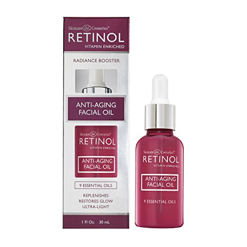 Retinol Anti-Aging Facial Oil Instantly Adds A Glow To Your Face For A Younger Look Radiance Booster With Nine Essential Oils Restores Hydration Nourishment To Your Skin Night Day