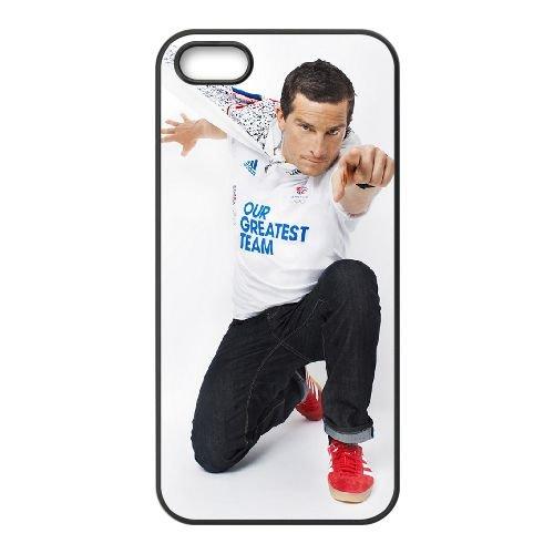 Bear Grylls 002 coque iPhone 5 5S cellulaire cas coque de téléphone cas téléphone cellulaire noir couvercle EOKXLLNCD22081