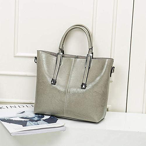 ハンドバッグ - 韓国のハンドバッグシンプルさんのファッションナイロンショルダーバッグ斜めのパッケージ、25センチメートル* 11センチメートル* 24センチメートル よくできた (Color : Gray)
