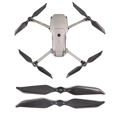 Kanzd 1Pair Carbon Fiber 8331 Foldable Low Noise Propeller For DJI Mavic Pro Platinum - Fiber 3dr Carbon