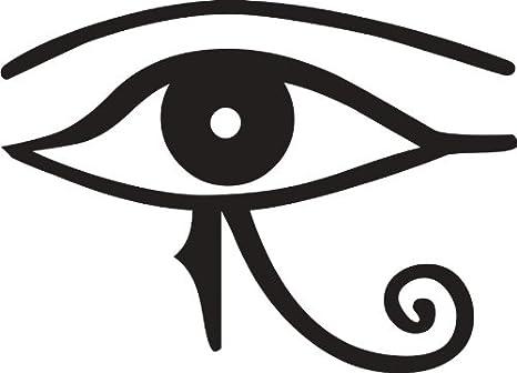 Ojo de Horus pegatinas Varios. tamaños y cantidades, negro, 1x ...