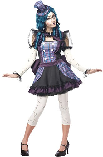 Broken Doll Rag Doll Puppet Dress Women Adult Costume ()