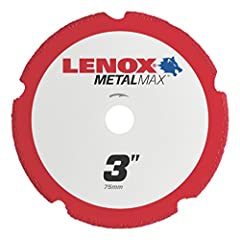 Lenox MetalMax is the new standard for metal cutting abrasives. Breakthrough diamond technology delivers 1,000 or more cuts (30 times longer life than thin bonded cutoff wheels)* without sacrificing speed or finish. Made of solid steel to gre...