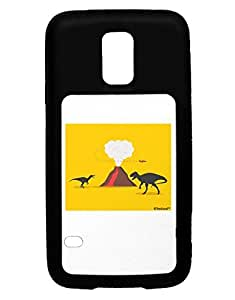 TooLoud Two Dinosaurs and Volcano Design Galaxy S5 Case