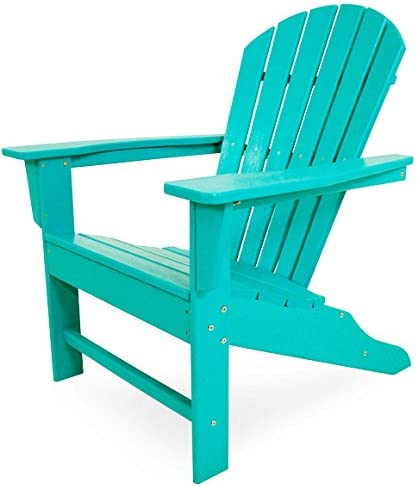 Polywood South Beach 4-Piece Adirondack Set Aruba