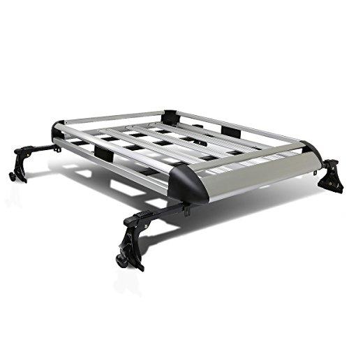 """50"""" x 31"""" Aluminum Roof Rack Top Cargo Carrier Basket+Cross"""