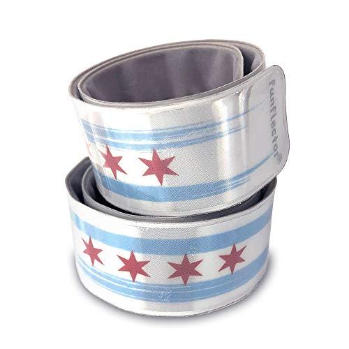 funflector Reflective Slap Bracelet - Chicago - 2-Pack -