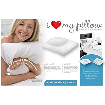 I Love My Pillow Standard Contour