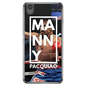 Loud Universe Oneplus X Manny Pacquiao Printed Transparent Edge Case - Multi Color