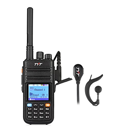 TYT Tytera Upgraded MD-380G DMR Digital Radio, with GPS Function! UHF 400-480MHz Two-Way Radio, Walkie Talkie Compatible with Mototrbo, Transceiver with 2 Antenna & Programming Cable & Earpiece by TYT