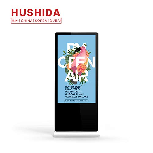 - HUSHIDA 42-inch LCD Plane Digital Signage 1080p,Floor Standing Commercial 4k Full HD Display with 10-Point Infrared Touch Screen for Information Query and Display