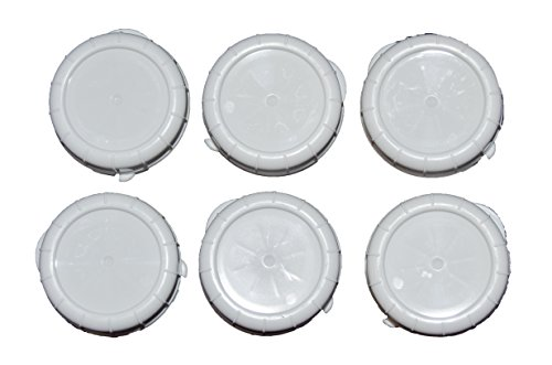 The Dairy Shoppe Replacement Glass Milk Bottle Caps, Fits 48 mm Libbey & Stan-Pac (Pack of 6) ()