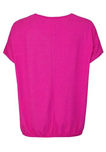 VERPASS Kurzarm T-Shirt Rundhals Kurzarm Nietenbesatz pink
