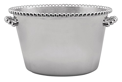 Mariposa Pearled Medium Ice Bucket by Mariposa String of Pearls Collection