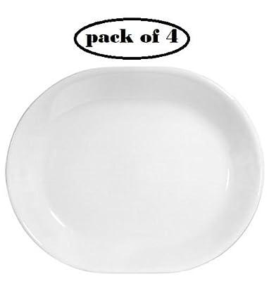 Corelle Livingware 12-1/4-inch Serving Platter, Winter Frost White …
