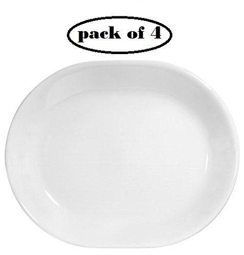 (Corelle Livingware 12-1/4-inch Serving Platter, Winter Frost White (4))