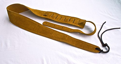 Guitar Strap RUST SUEDE LEATHER 2 & 1/2