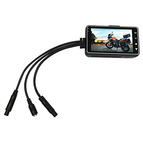 Vosarea - Cámara de grabación para Motocicleta con Sensor de Gravedad, grabación, cámara Trasera para salpicadero...