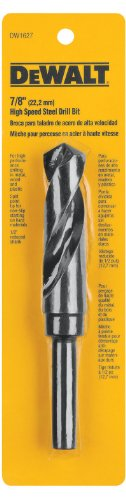 DEWALT DW1627 7/8-Inch Black Oxide 1/2-Inch Reduced Shank Twist Drill Bit ()
