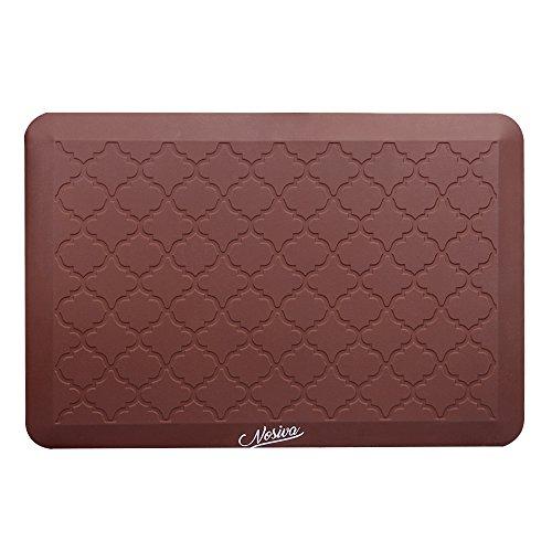 Anti-Fatigue Comfort Mat, NOSIVA Premium Kitchen/Office Standing Desk Mat, Multi-Purpose Design Safe on Most Surfaces, 20 x 30 In (Dark Brown)