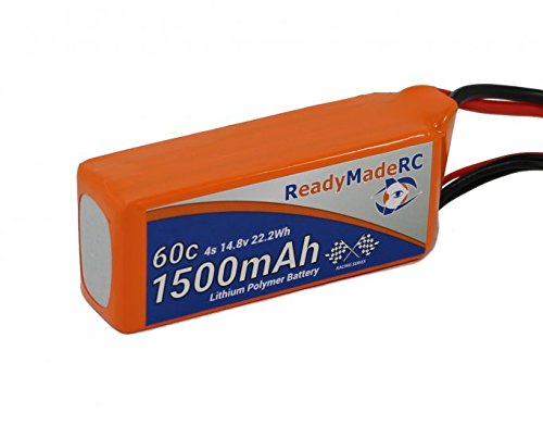 RMRC Orange Series - 1500mAh 4S 60C Lipo - T Connector (22.2Wh) Perfect for RC Drone, Boat, Airplane, Quadcopter, car, Racing, UAV, ()