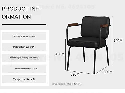 JINGXIANG Industriell vindstol loft kontorsstol enkel modern matsal datorstol till konferensrum stol diskuterad stol hem & trädgård (färg: Stil1) style7