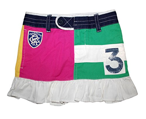 Ralph Lauren Polo Girls Patchwork Rugby Mini Skirt 4 4T (Ralph Polo Girls Rugby Lauren)