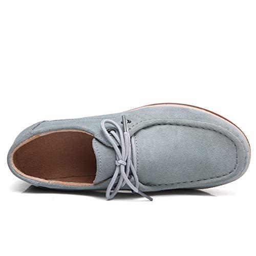 Blu Tallone da tqgold Guida con Mocassini Donna Moda cm Camminare Scarpe 5 5 Comodo Zeppa Loafers OqHwZI6Kwr