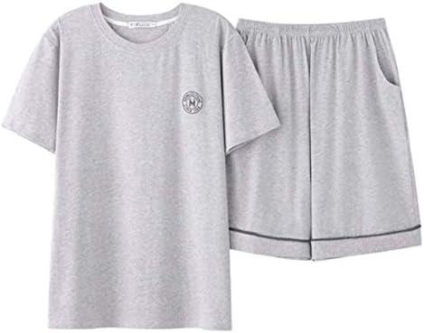 メンズ パジャマ 純綿 半袖 ショートパンツ 縞 格子 シンプル カジュアル 薄手 夏 ルームウェア 涼し 快適 吸水速乾 通気性 部屋着