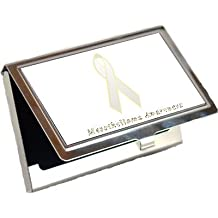 Mesothelioma Awareness Ribbon Business Card Holder