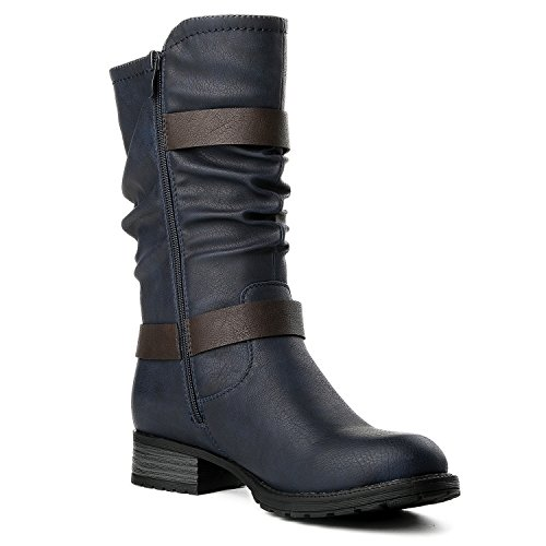 Global Win GLBALWIN Womens 17YY10 Fashion Boots 10navy olqbn