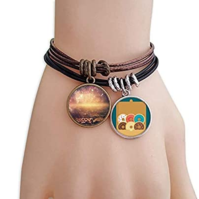 SeeParts Golden Space Nebula Cosmic Pattern Bracelet Rope Doughnut Wristband Estimated Price £9.99 -