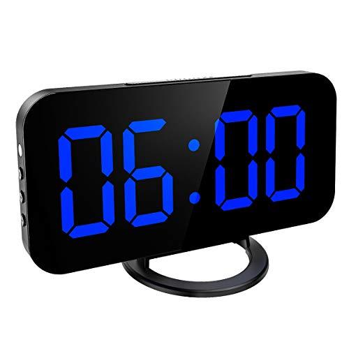 KeeKit Digital LED Alarm Clock, Large 6.5