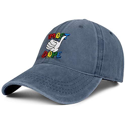 Mens Womens Most-Dope- Adjustable Vintage Summer Travel Hats Trucker Washed Dad Hat Cap -
