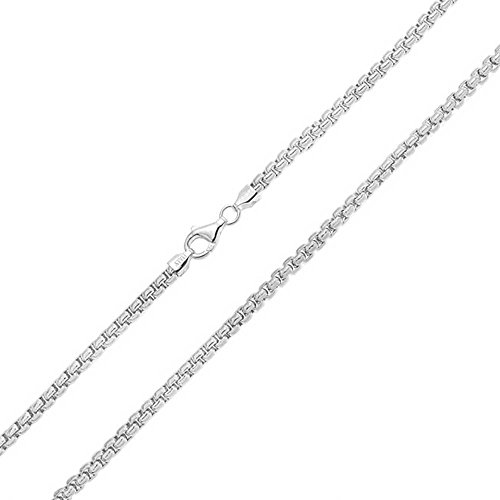 Bling Jewelry Mens 300 Gauge Sterling Silver Box Link Chain 30 Inches by Bling Jewelry