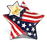 Patriotic Stars And Stripes Chip And Dip Set For Kitchen and Party Decor