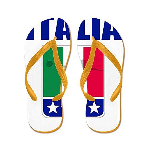 CafePress Italian World Cup Soccer - Flip Flops, Funny Thong Sandals, Beach Sandals Orange