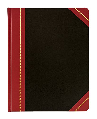 Adams Record Ledger, 7.63 x 9.63 Inches, Black Cover with Maroon Spine, 300 Pages (ARB79R300)