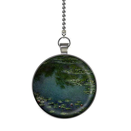 Gotham Decor Monet Water Lilies Ceiling Fan/Light Pull Pendant with Chain