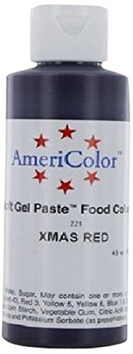 Americolor Soft Gel Paste Food Color, Christmas Red (Watermelon), 0.75 Ounce