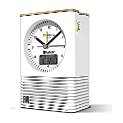 Soundfreaq Sound Rise Classic Bluetooth Analog Alarm Clock Speaker - White