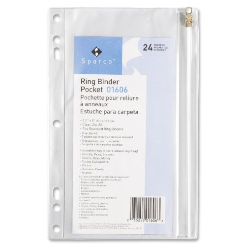 SPR01606 Vinyl Binder Pocket Clear