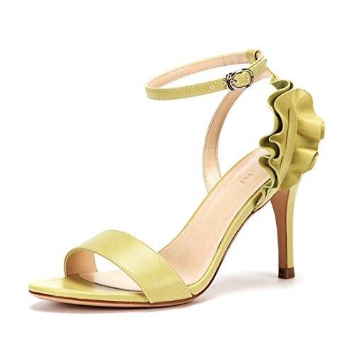 de Green Sólido de Color Zapatos Moda Nuevos Verano Tacones Altos ...