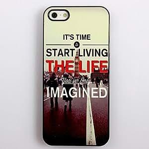JAJAY- Live The True Life Design Aluminum Hard Case for iPhone 4/4S